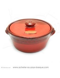 Faitout céramique rouge basque en diamètre 28 cm en Terre cuite de Jean de la Terre