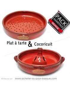 Acheter cet ensemble cocoricuit et plat à tarte en céramique