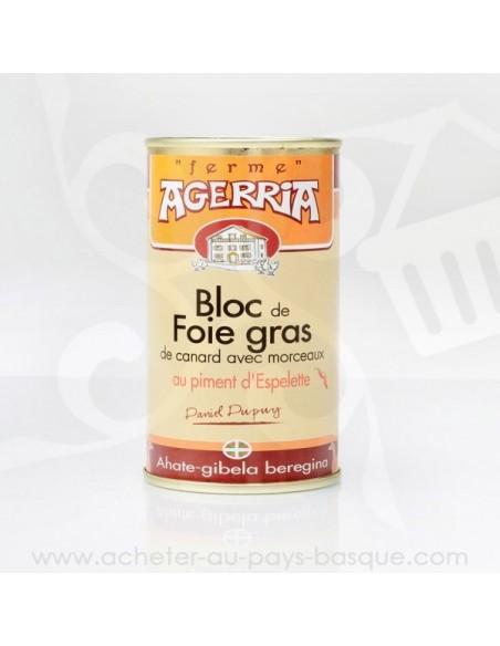 Bloc de Foie Gras de canard avec morceaux au piment d'Espelette