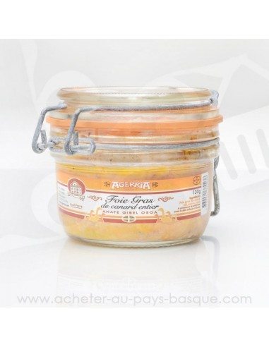 Foie Gras de canard entier au piment d'Espelette - Bipertegia producteur Basque - Espelette en vente