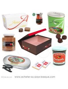 Achetez et offrez ce coffret cadeau gourmands de Chocolats Basques