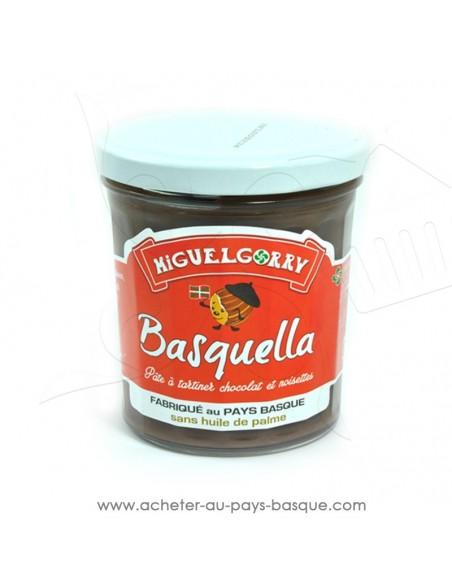 Basquella pâte à tartiner chocolat praline - producteur Basque - conserve produit epicerie sucré