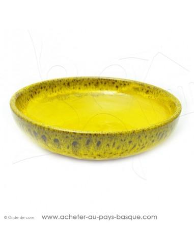 Saladier Corbeille en céramique jaune pour des salades individuelles ou familiales - Terre Cuite - Jean de la Terre