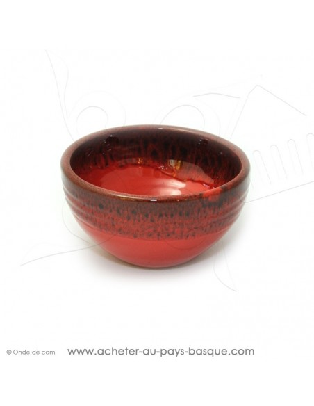 Bol Américain rouge en terre cuite céramique de Jean de la Terre