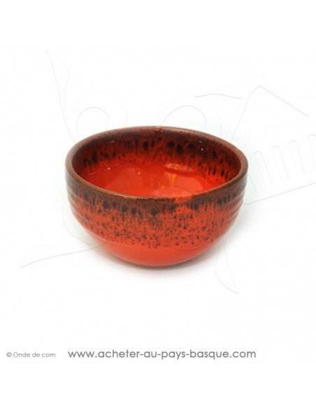 Bol Américain orange en terre cuite céramique de Jean de la Terre