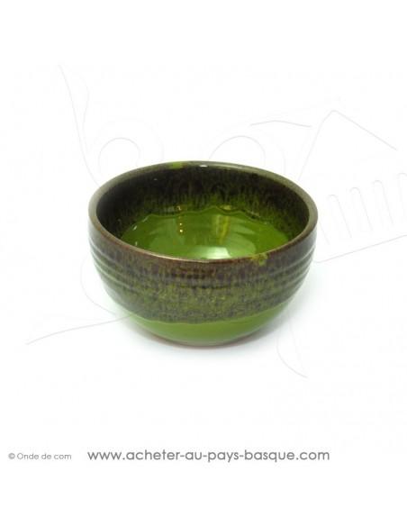 Bol Américain vert  en terre cuite céramique de Jean de la Terre