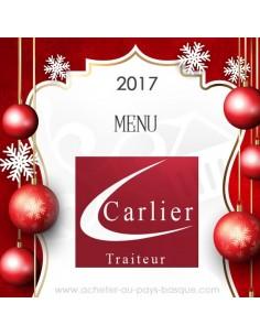 Menu fêtes reveillon noel - livraison Plat à emporter Carlier Traiteur Halles de Biarritz