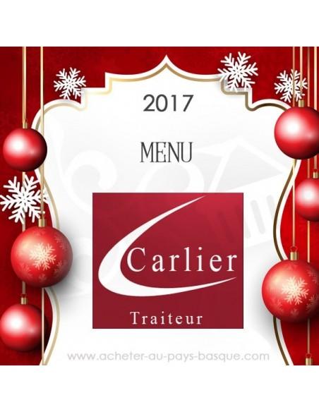 Menu 1 des fêtes traiteur Carlier 2017
