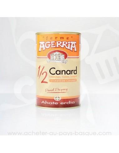 Demi canard confit (un manchon, un magret et une cuisse) - Bipertegia producteur Basque - Espelette en vente
