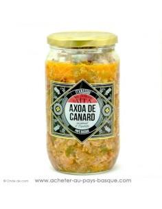 valise village Itxassou dégustation conserves gourmandes : axoa chichon gratton de canard pâté boudin basque saucisse confite