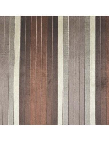 Tissu rayures casal doux marron beige gris - Tissu ameublement - recouvrement meuble patchwork - Dock Negresse Biarritz