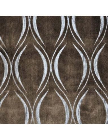Tissu ameublement italien vatican marron velours doux - recouvrement meuble patchwork - Dock Negresse Biarritz