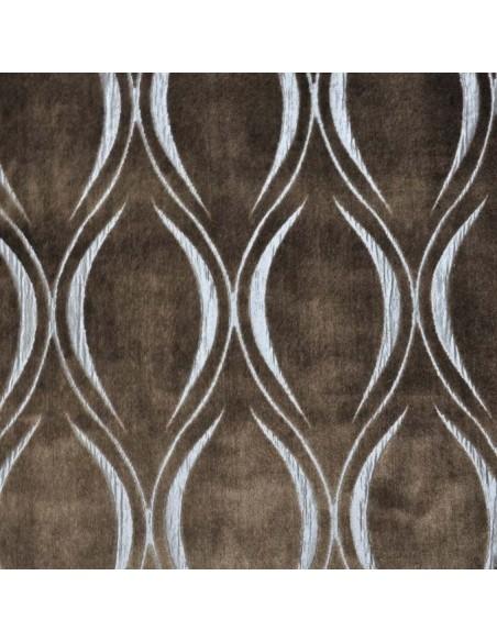 Tissu ameublement vatican marron velours