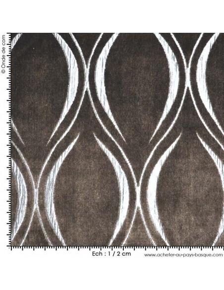 Tissu ameublement italien vatican marron velours doux - mesure recouvrement meuble patchwork - Dock Negresse Biarritz