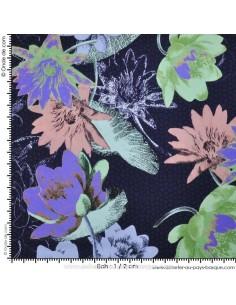 Tissu Haute Couture Ungaro 100 % Soie - magnifique crêpe de Chine - Tissus Habillement Docks Negresse Biarritz en vente