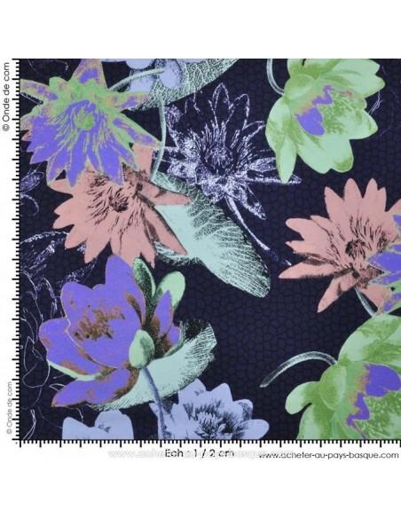 Tissu Haute Couture Ungaro 100 % Soie - magnifique crêpe de Chine - Tissus Habillement Docks Negresse Biarritz avec mesure