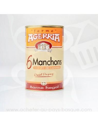 6 manchons de canard confits - Bipertegia producteur Basque - Espelette - en vente