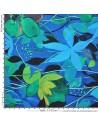 acheter Tissu Haute Couture Ungaro Étamine de laine fleurs feuillages Tissus Habillement Docks Biarritz mesure