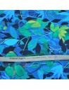 acheter Tissu italien Haute Couture Ungaro Étamine de laine fleurs feuillages Tissus Habillement Docks Biarritz