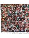 Tissu Haute Couture Ungaro Mousseline UNGARO tissée de plumetis or Habillement Docks Biarritz mesure