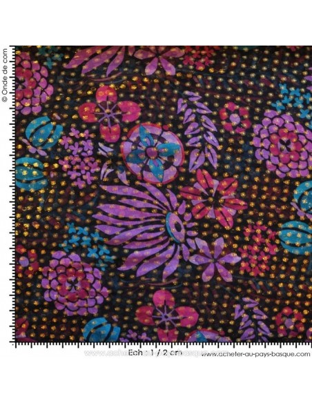 Tissu Haute Couture Ungaro Mousseline UNGARO tissée de plumetis or Habillement Docks Biarritz echelle