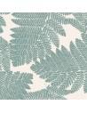 Collection THEVENON ETE 2018 : Wood Feuillage vert bouteille sur fond crème  - Tissus d'ameublement  Biarritz en vente