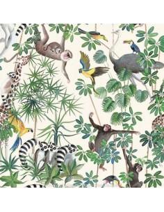 Collection THEVENON ETE 2018 :Tissus la Jungle des animaux pour une déco exotique - ameublement - recouvrement - Dock  Biarritz