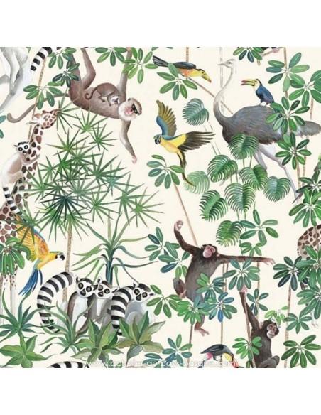 THEVENON ETE 2018 : Tissu la Jungle des animaux