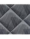 QUADRATIS noir fond ficelle - Jacquard Thévenon- carrelage contemporain Tissus Ameublement - vente en ligne Biarritz