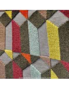 Tissu Jacquard formes géometriques : Thévenon ALFABETO   ameublement - recouvrement meuble - vente en ligne