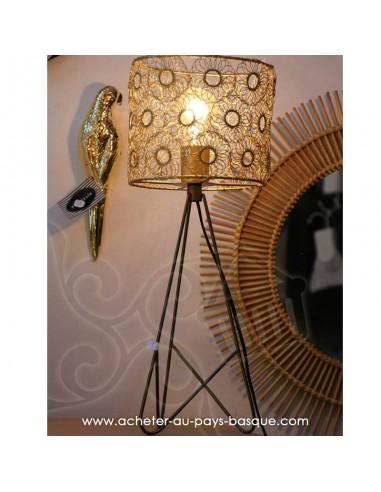 Lampe Sunflower patine laiton - Pas Sage et des rêves - boutique décoration Biarritz