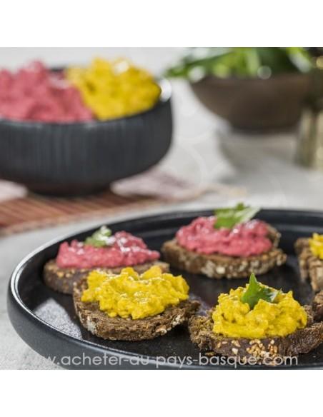Apéritif houmous en situation carotte vente en ligne bidaian bayonne - plat cuisiné oriental  épicerie saveurs du monde
