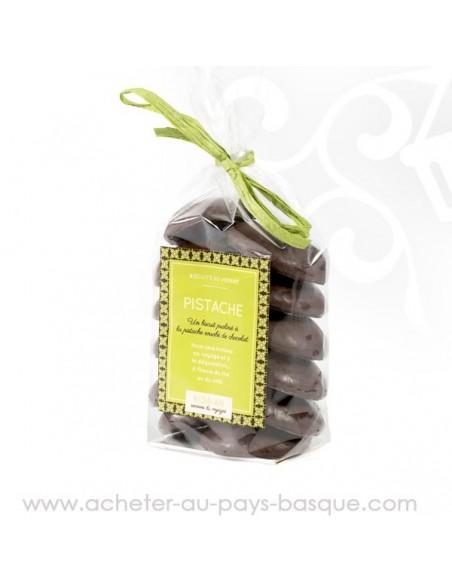 Biscuit croquant pistache chocolat
