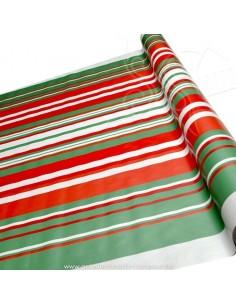 Nappes en Toile cirée croix rayures Basques Rouge et vert - Docks Negresse Biarritz - acheter nappe basque