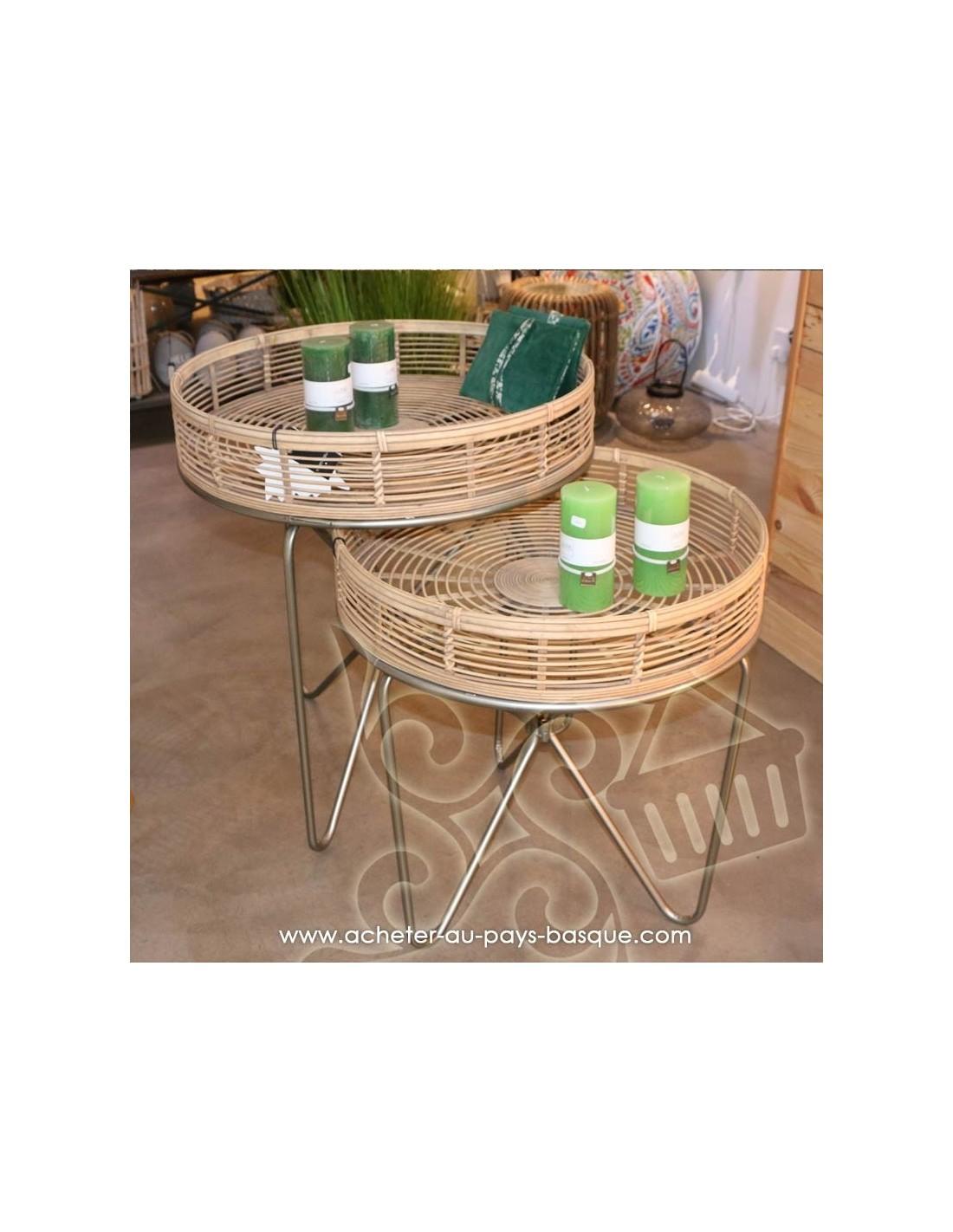 Basse Biarritz Table Bambou Boutique Sage Bois Ronde Pas Déco reBdxCoW