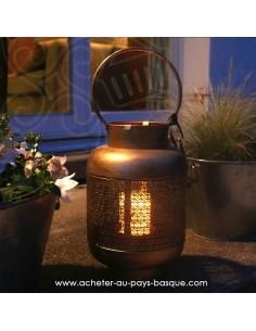 Lanterne orientale bronze Pas Sage et des rêves Biarritz - boutique décoration
