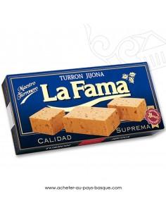 Turron LA FAMA Jijona  nougat mou croquant - epicerie confiserie espagnole - produit espagnol - noel
