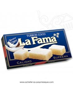 Turron LA FAMA coco nougat mou - epicerie confiserie espagnole - produit espagnol - noel