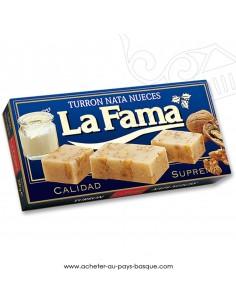 Turron LA FAMA creme noix nougat mou - epicerie confiserie espagnole - noel - produit espagnol