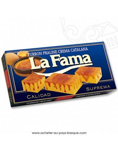Turron LA FAMA mou praliné crème catalane - epicerie confiserie espagnole - produit espagnol - noel