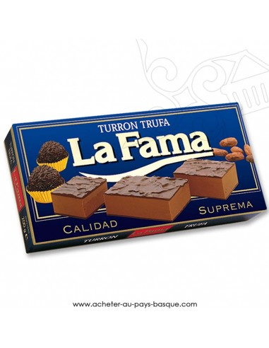 Turron LA FAMA mou truffe - epicerie confiserie espagnole - produit espagnol - noel