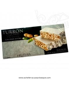 Turron Frutusa dur cacahuetes - epicerie confiserie espagnole - produit espagnol - noel - nougat