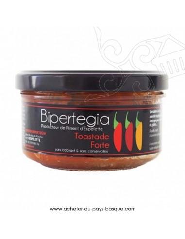La toastade forte au jambon de Bayonne et piment d'Espelette - Bipertegia producteur Basque - apéritif