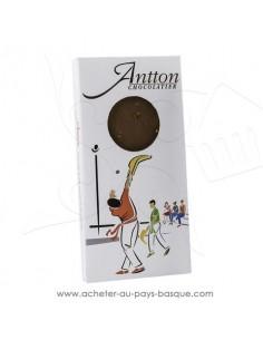 Tablette Chocolat Basque lait 34% de cacao piment d'Espelette ! vente en ligne Antton chocolatier du village