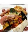 Paella espagnole aux fruits de mer poulet - plat à emporter - Traiteur Carlier marché Halles de Biarritz