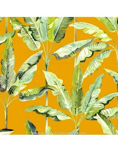 Exotica fond ocre - THEVENON  Collection Automne Hiver 2018 Tissus Ameublement - vente en ligne - biarritz