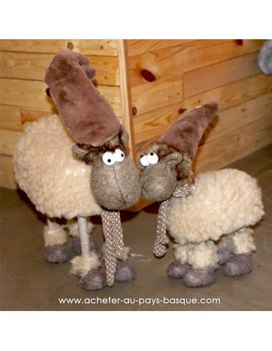 Mouton debout peluche beige  - Pas Sage et des rêves Biarritz - boutique décoration