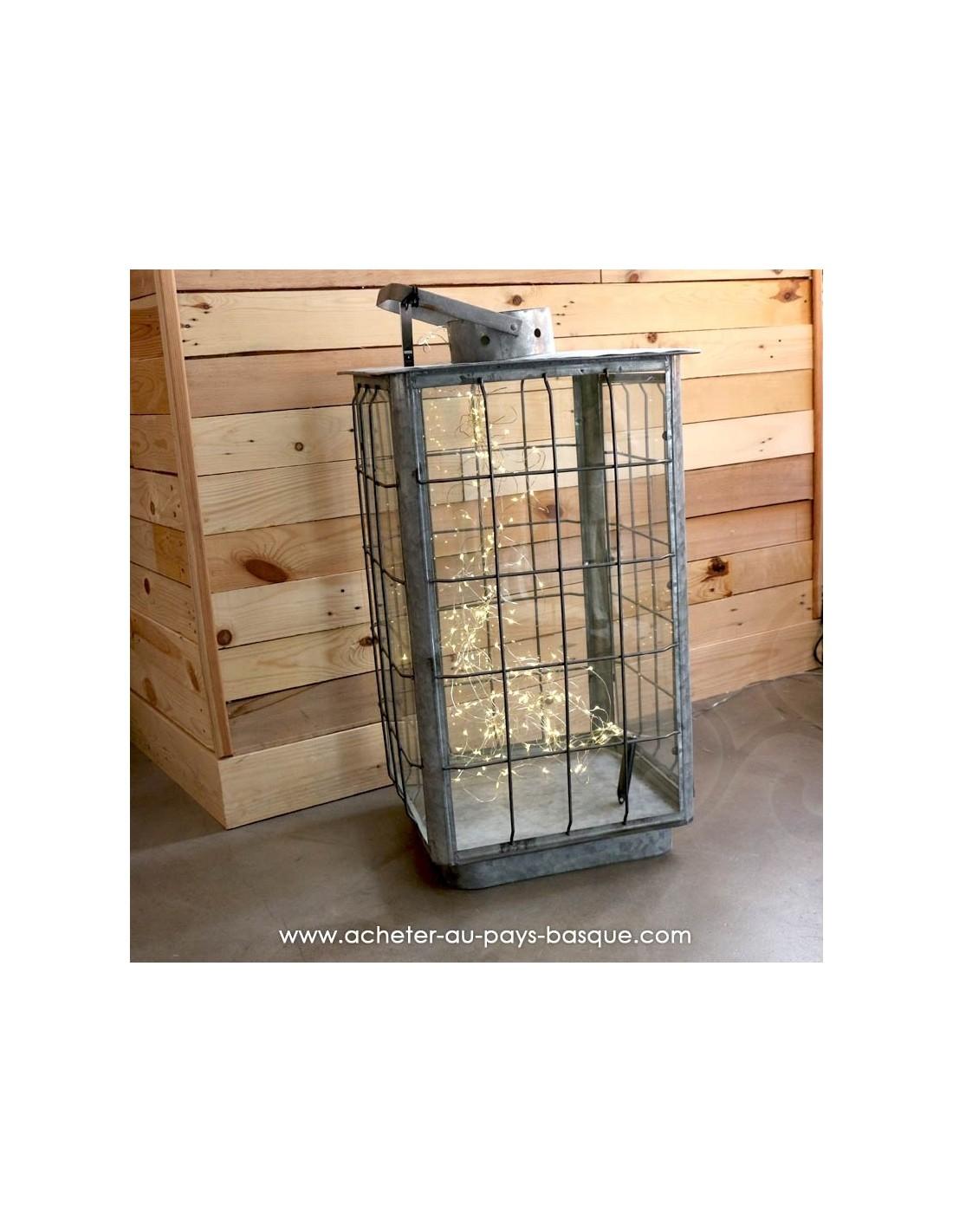 grande lanterne slade zinc nickel boutique d co pas sage. Black Bedroom Furniture Sets. Home Design Ideas