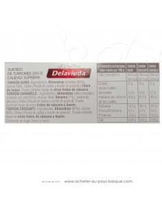 Turron assortiment dur caramel croquant - epicerie confiserie espagnole - produit espagnol - noel - nougat