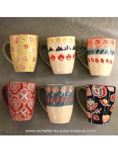 Mugs peints main vaisselles - déco Pas Sage et des rêves Biarritz - boutique décoration